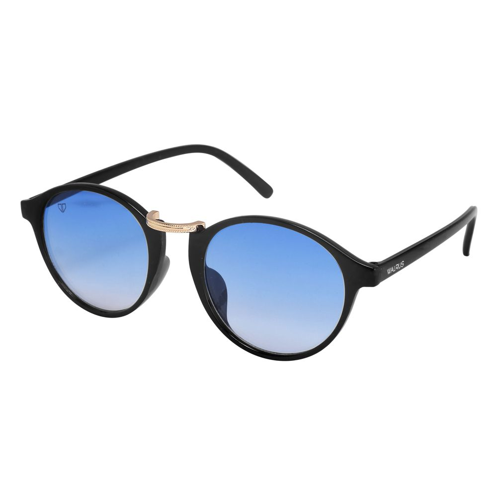 Walrus James Blue Color Unisex Oval Sunglass - WS-JAMES-II-030206