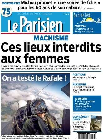 Le Parisien du Mercredi 13 Juillet 2016
