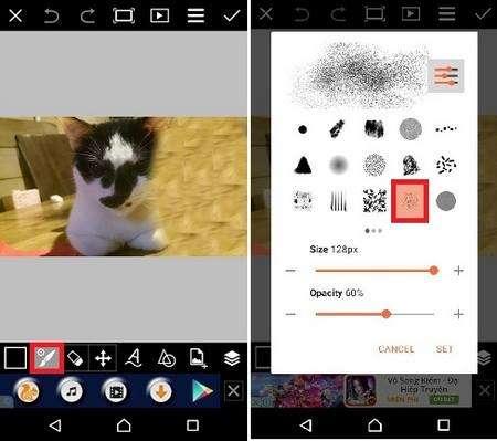 Làm ảnh tan biến bằng phần mềm PicsArt