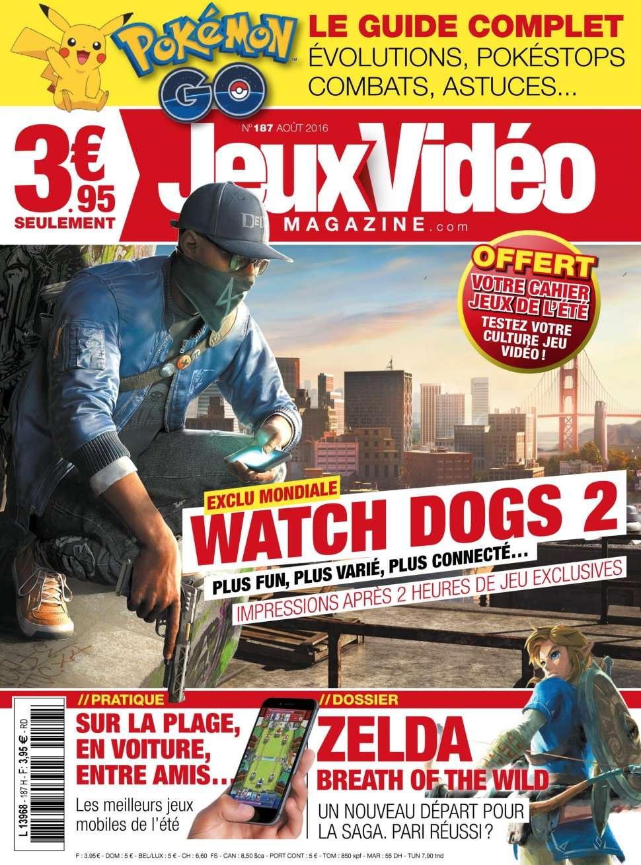 Jeux Vidéo magazine 187 - Aout 2016