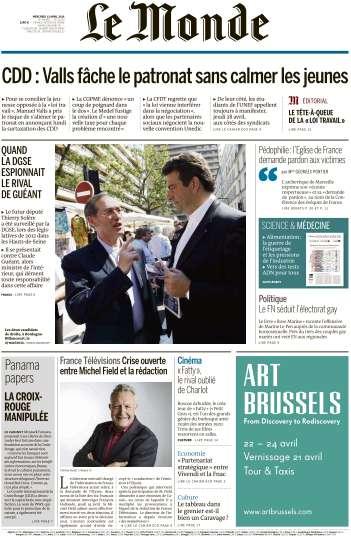 Le Monde du Mercredi - 13 Avril 2016