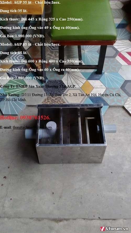 Bể tách mỡ 600L,bể tách mỡ 1200L,bể tách mỡ 2000L –LH 0938761526.