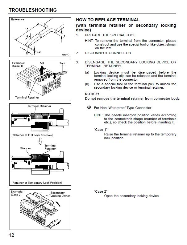 Schemi Elettrici Per Elettrauto : Manuale schemi elettrici toyota camry wiring diagram