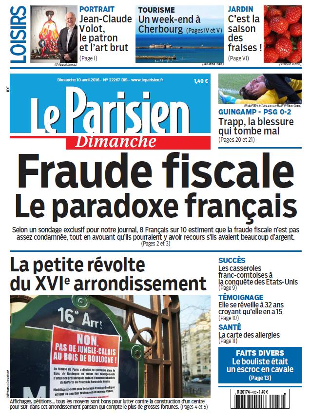 Le Parisien + Votre guide du Dimanche 10 Avril 2016