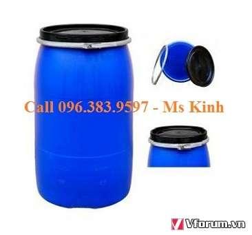 thùng phi nhựa 50 kg thanh lý giá rẻ, bán thùng phuy nhựa 150L, thung phuy