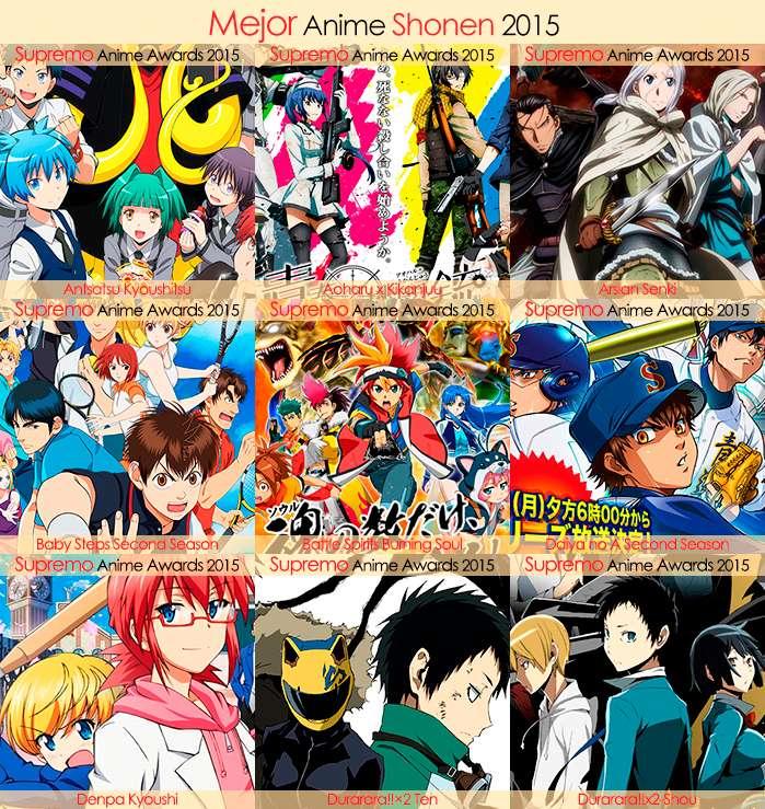 Eliminatorias Nominados a Mejor Anime Shonen 2015