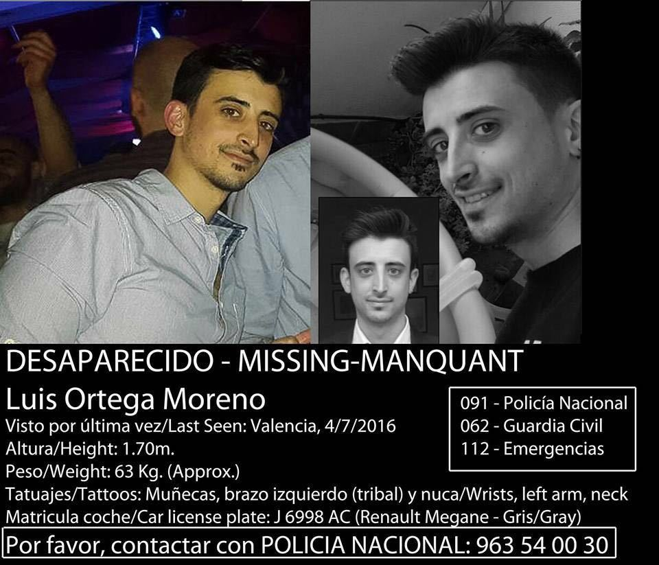 Desaparecido mi primo Luis