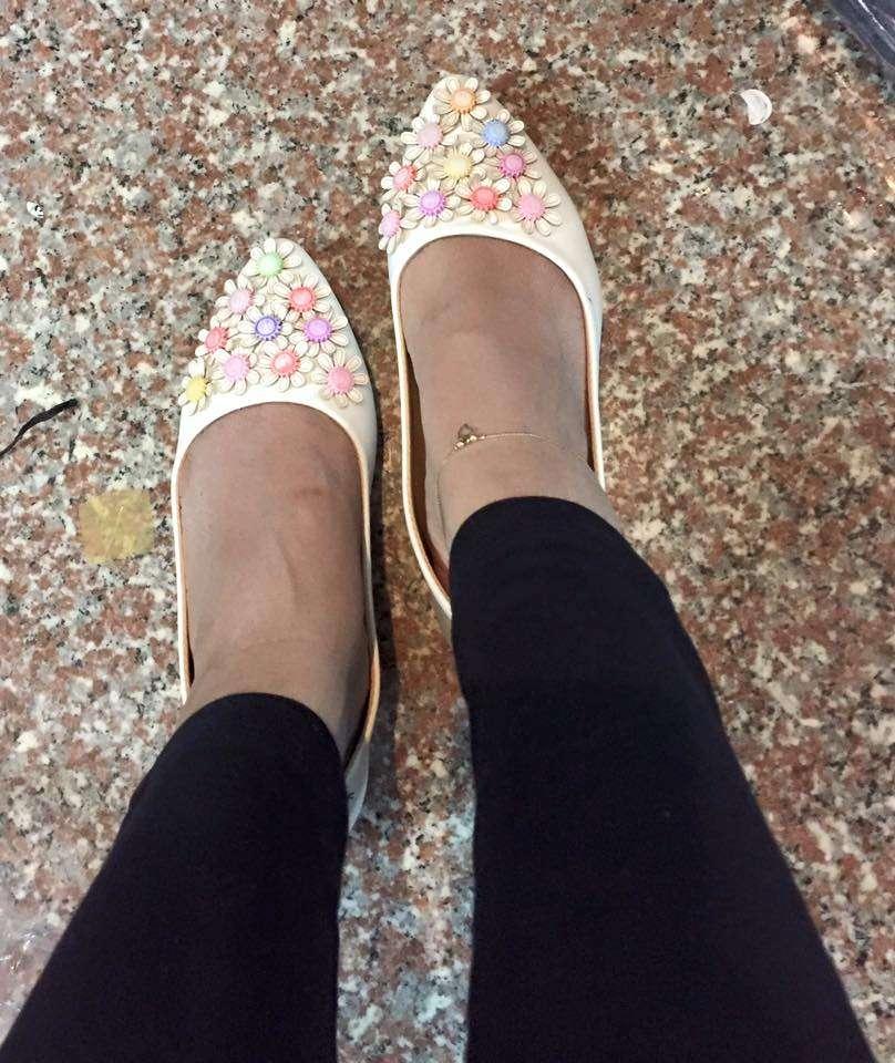 Giày búp bê đính hoa Size 36 đến 39