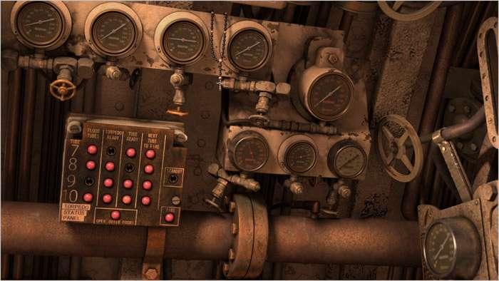 U.S.S. Cavalla Engine Room close-up