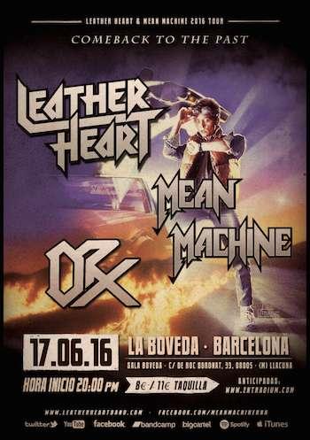 Leather Heart en Barcelona - cartel