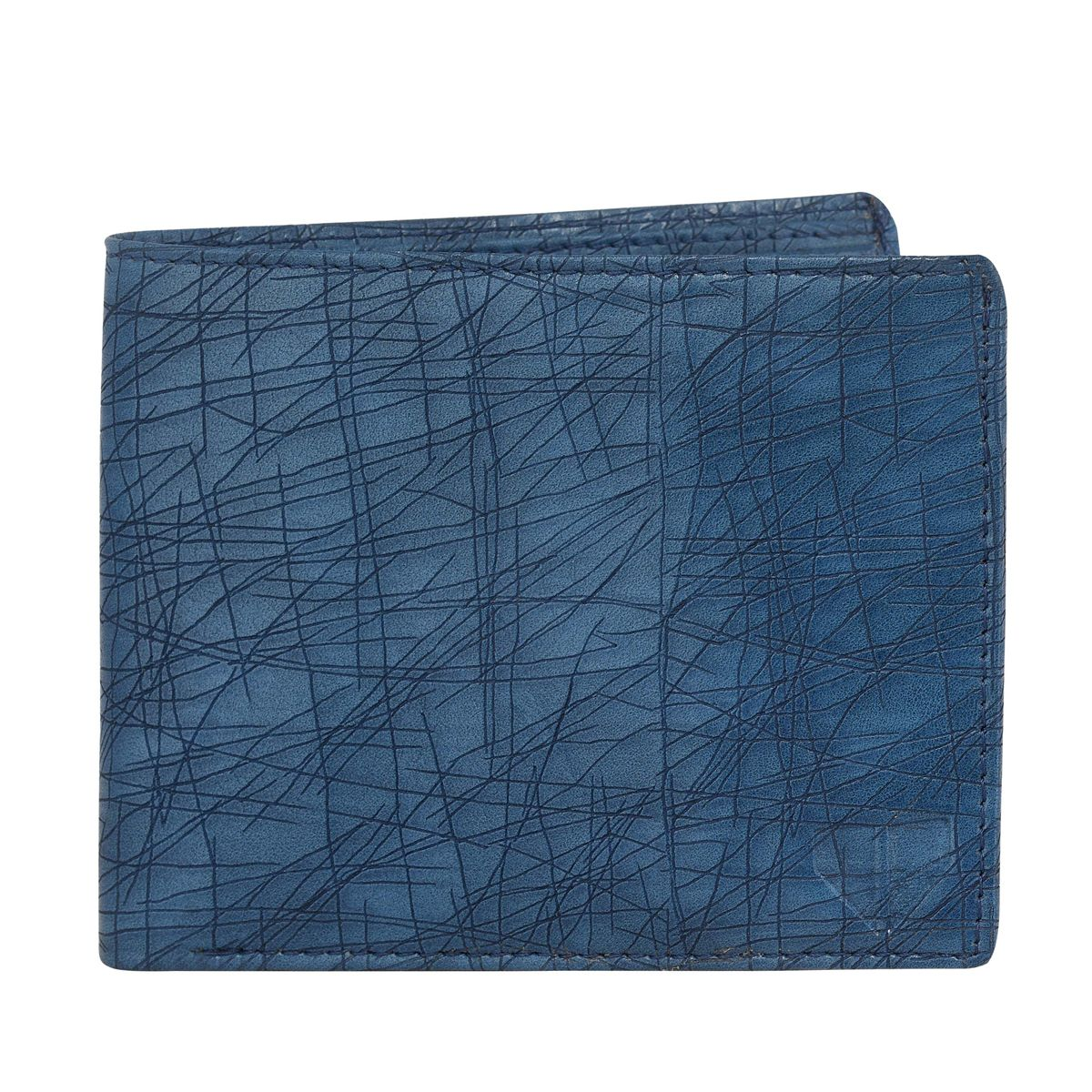 Walrus Hornet Blue Color Men Synthetic Wallet- WW-HRT-03