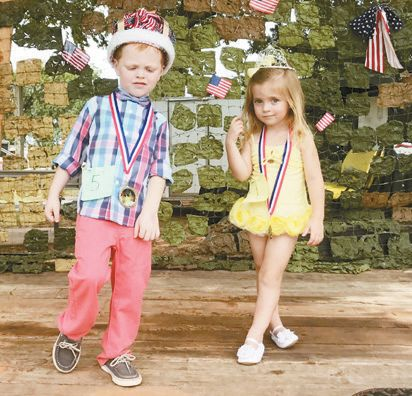 Chase and Amy Ebersole crowned Foss Lake Little King and Queen