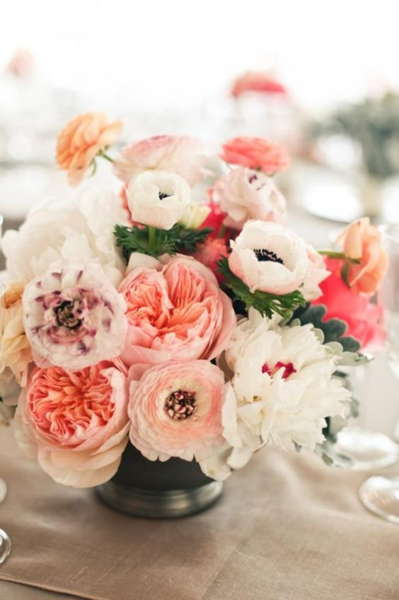 Pink and white floral arrangement via Things I Love Thursday on KaelahBee.com