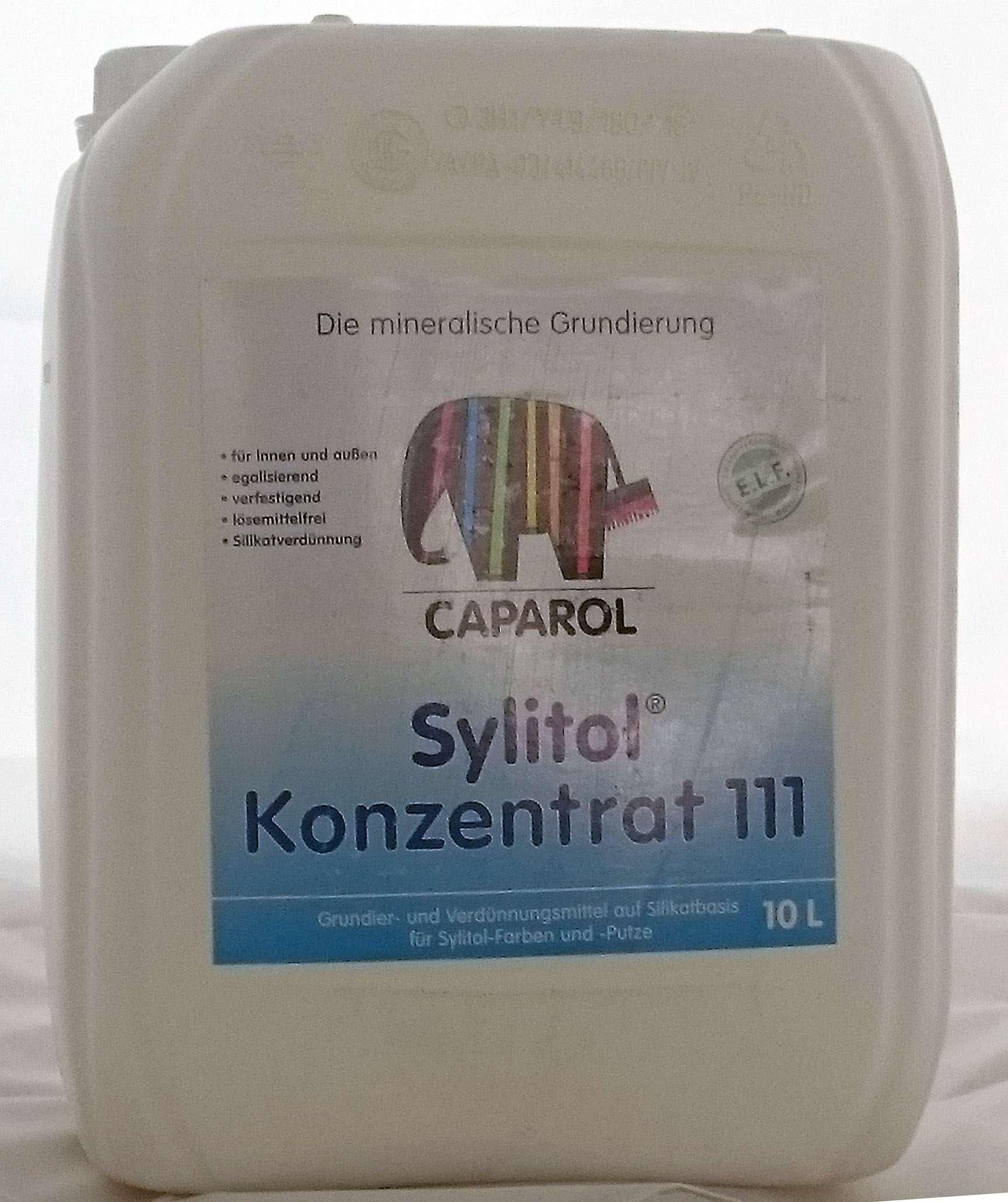 7 40 l caparol sylitol konzentrat 111 10 liter grundierung verd nnungsmittel ebay. Black Bedroom Furniture Sets. Home Design Ideas