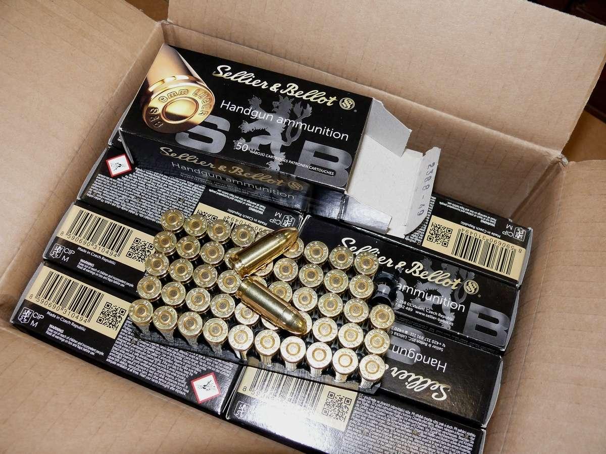 Amunicja pistoletowa 9x19 Para - Sellier&Bellot 8,0g