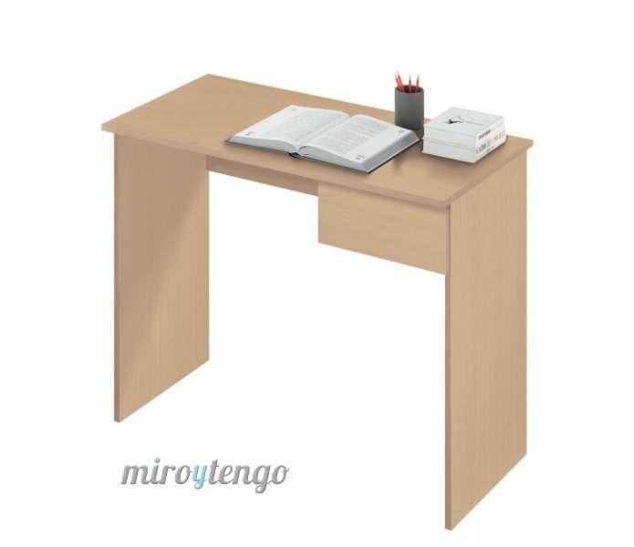 Mesa de ordenador escritorio juvenil con cajon color roble - Mesa escritorio juvenil ...