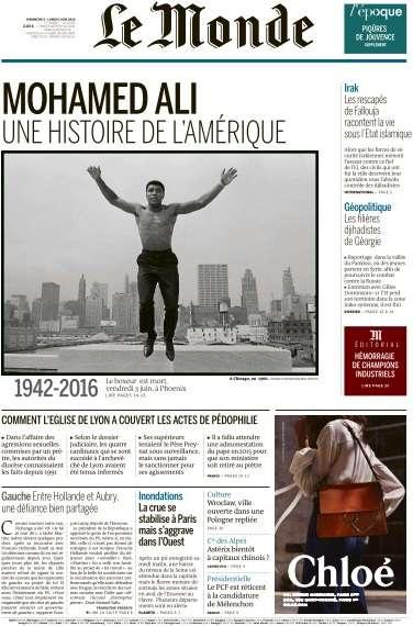 Le Monde du Dimanche 5 et Lundi 6 Juin 2016