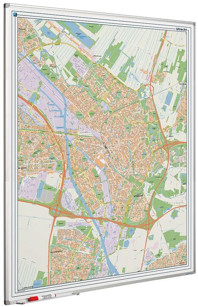 Photo: Landkaart bord Softline profiel 8mm, Utrecht