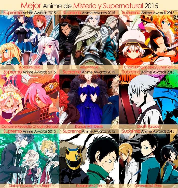 Eliminatorias Nominados a Mejor Anime de Misterio y Supernatural 2015