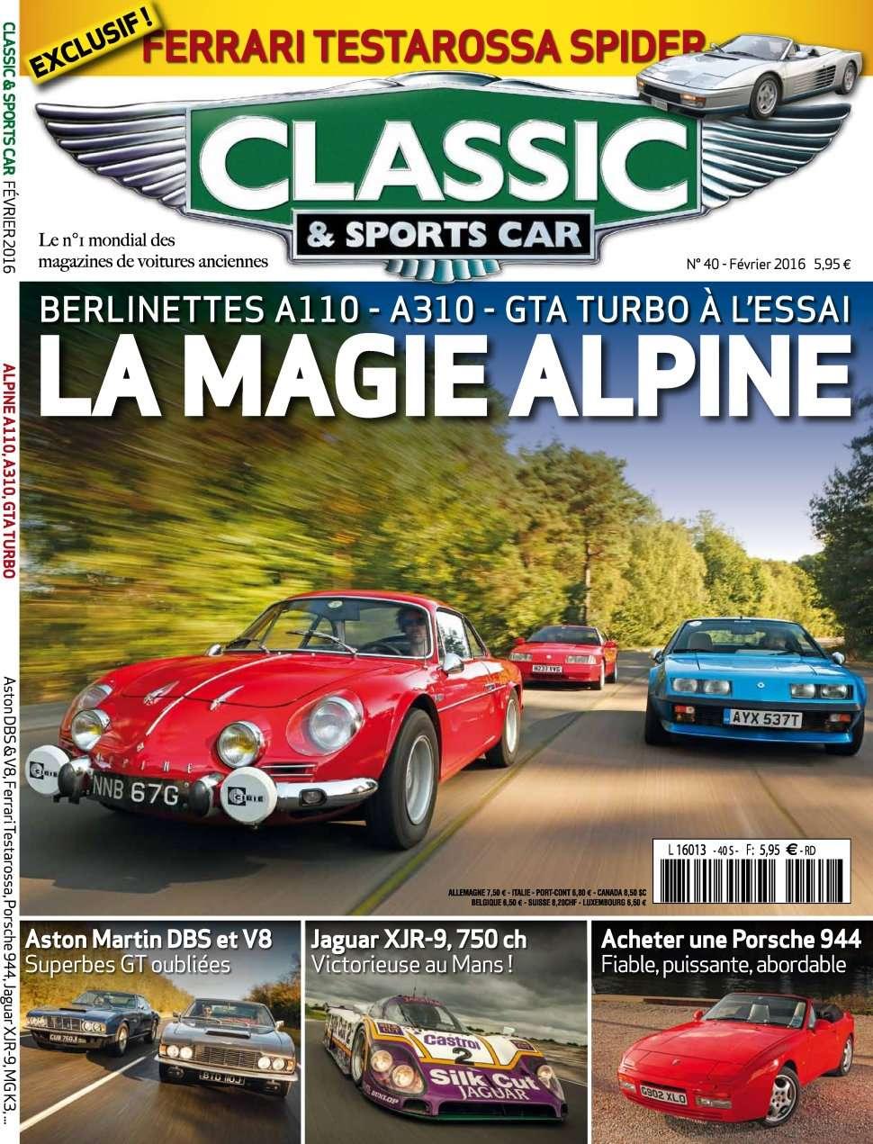 Classic & Sports Car 40 - Février 2016