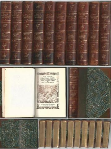 Works of Kate Douglas Wiggin Leather bound 1917 Quillcote Ed Complete 10-Volume Set, Kate Douglas Wiggin
