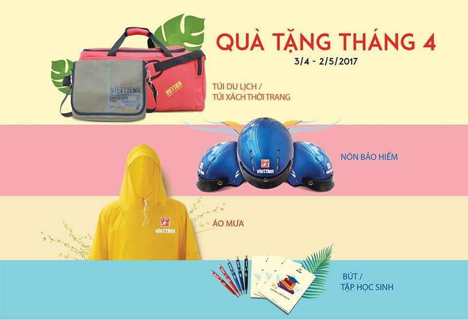 chương trình quà tặng tháng 4 của đại lý Việt tiến Bình Thạnh