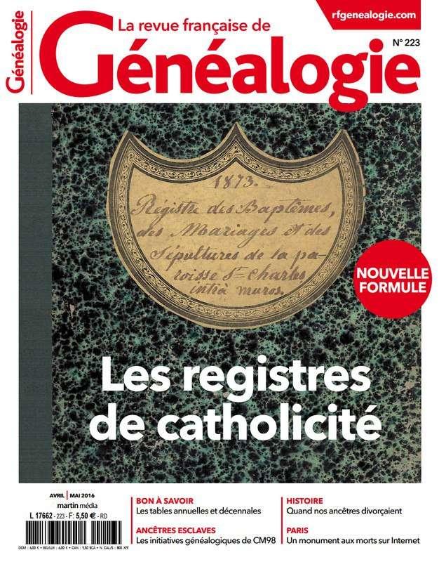 La Revue Française de Généalogie 223 - Avril/Mai 2016