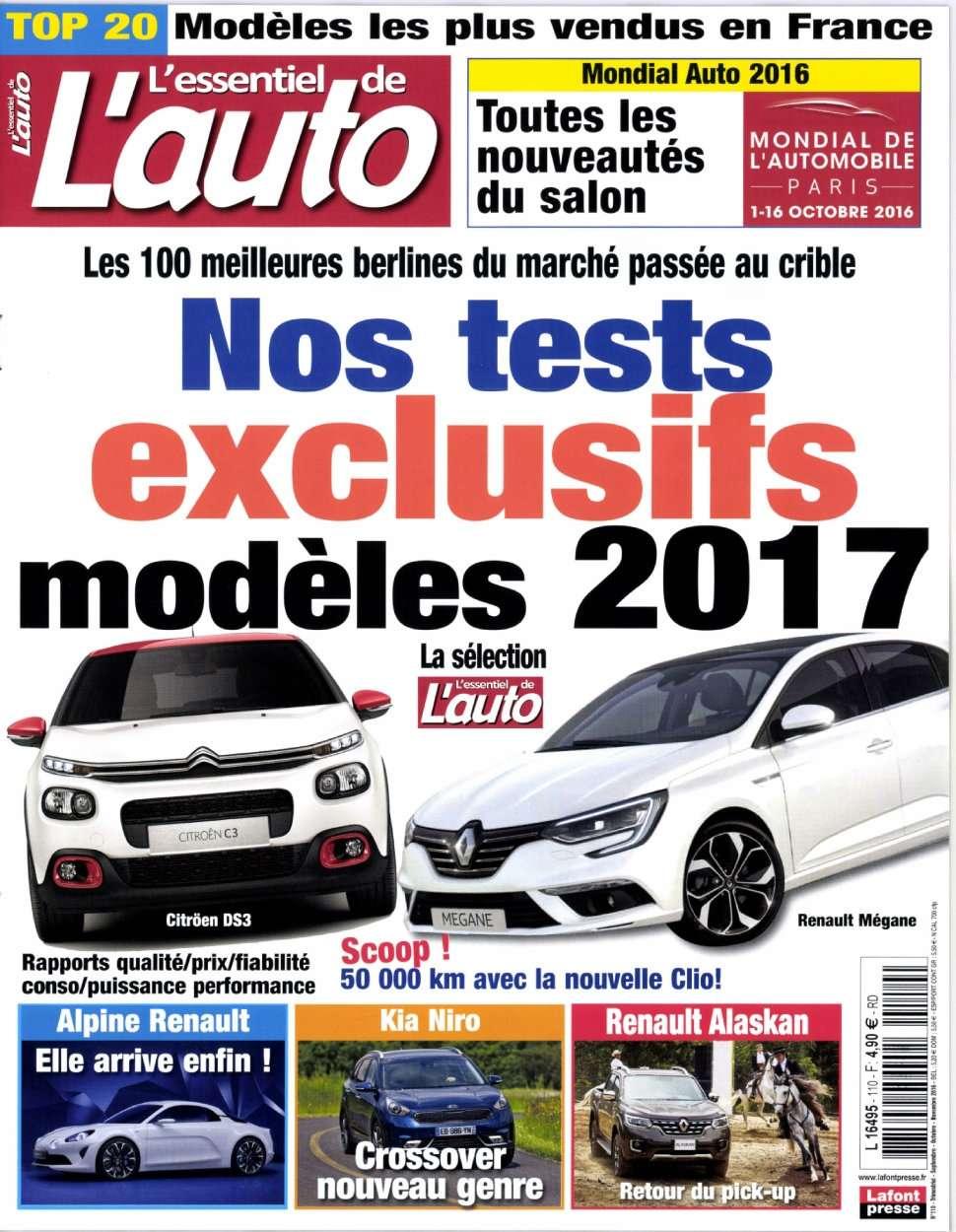 L'Essentiel de l'Auto 110 - Septembre/Novembre 2016