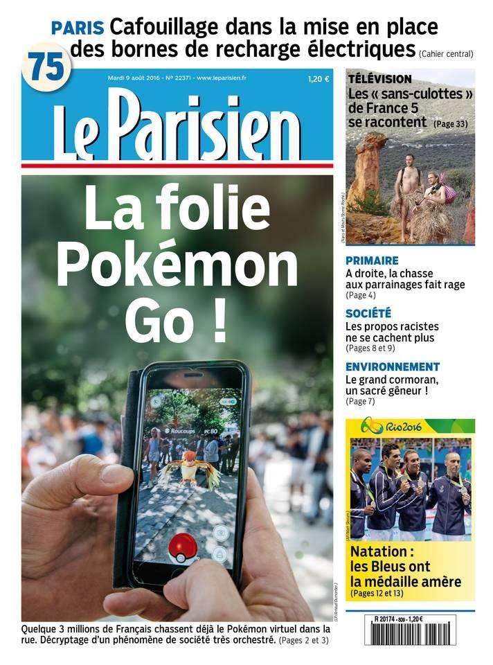 Le Parisien et Journal de Paris du Mardi 9 Aout 2016