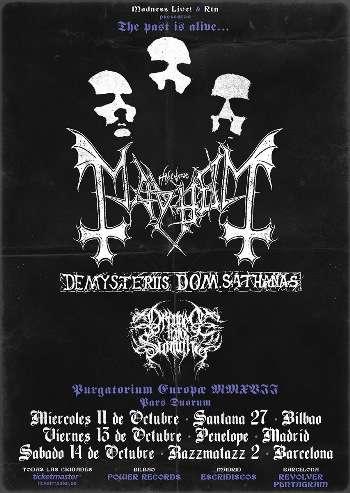 Mayhem - gira España
