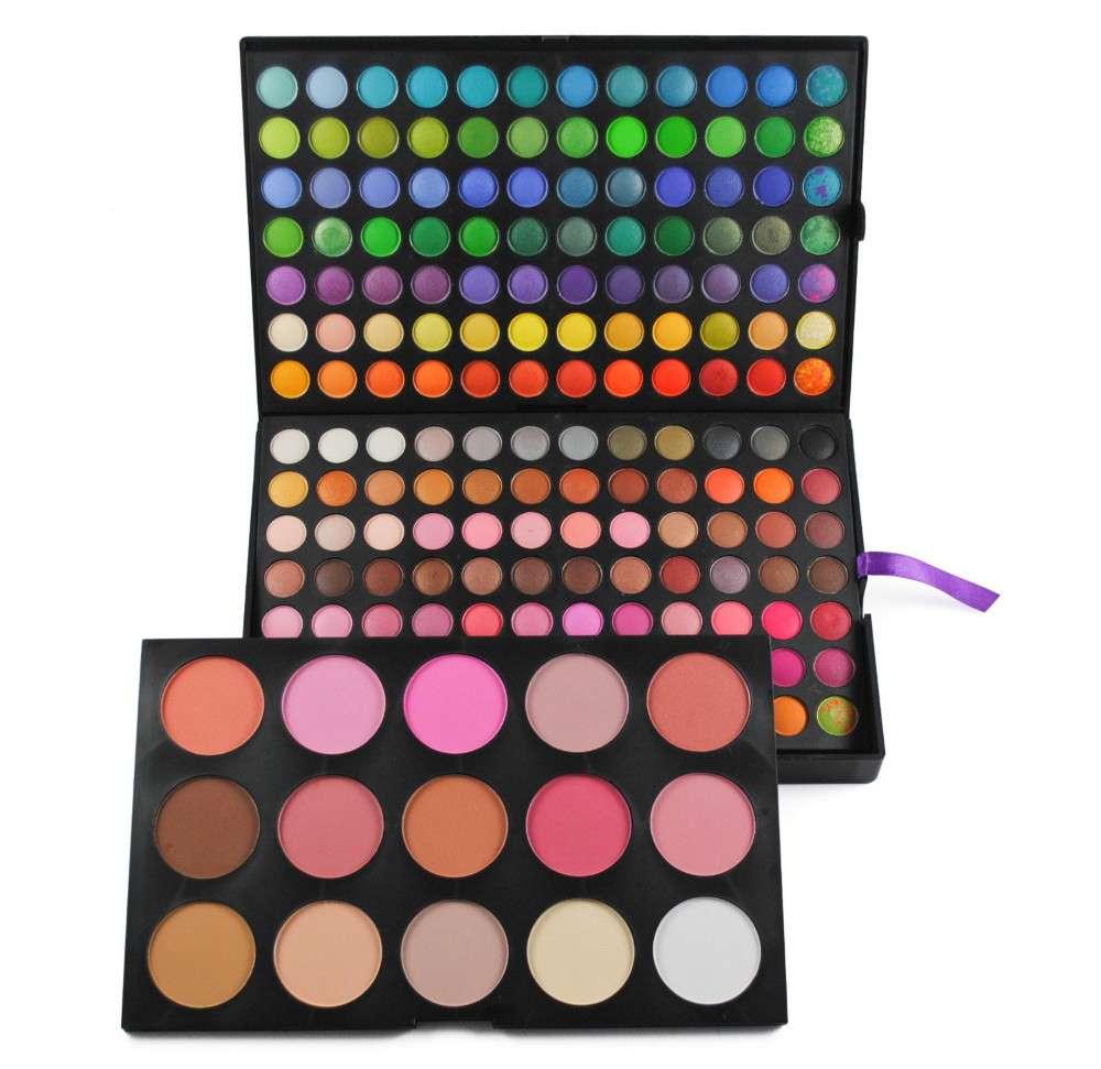 183 Color Makeup Palette Set 168 Eyeshadow 9 Blush & 6 Contour Powder