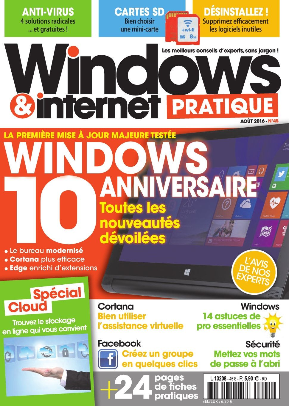 Windows & Internet Pratique 45 - Aout 2016