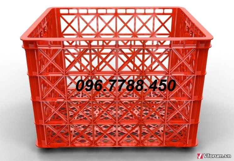Sóng nhựa 8 bánh xe, rổ nhựa 8 bánh xe, rổ nhựa HS 022