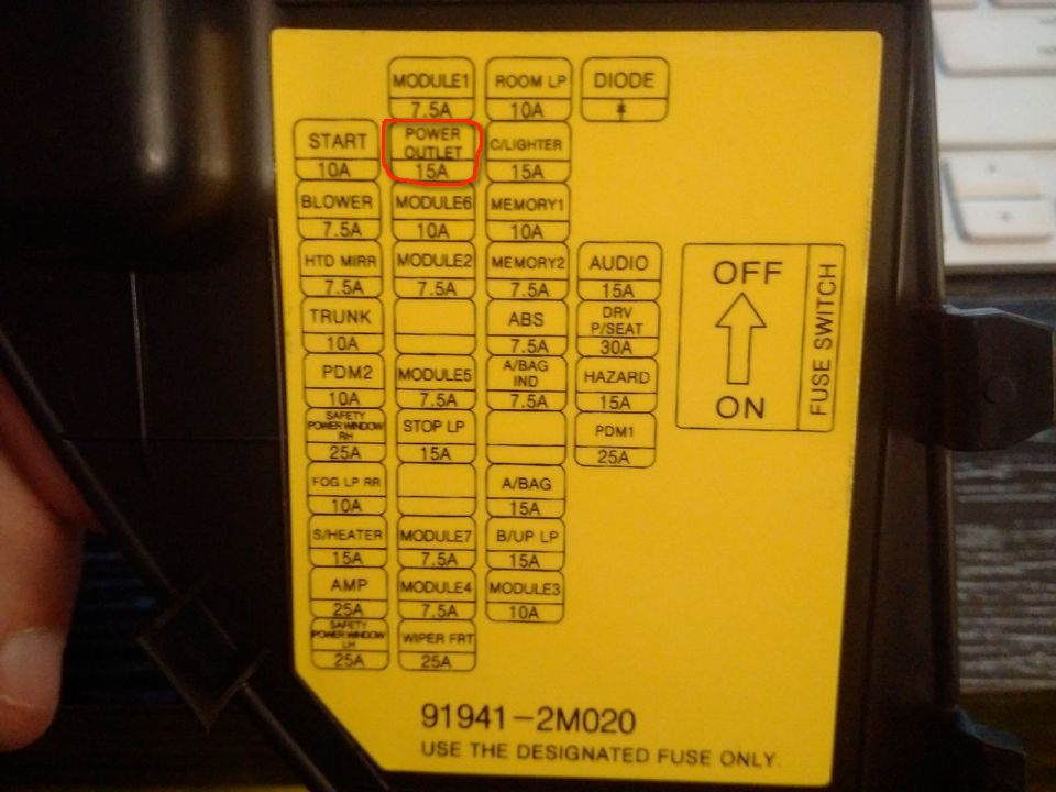 Zx12r Fuse Box Location : V center console outlet not working hyundai