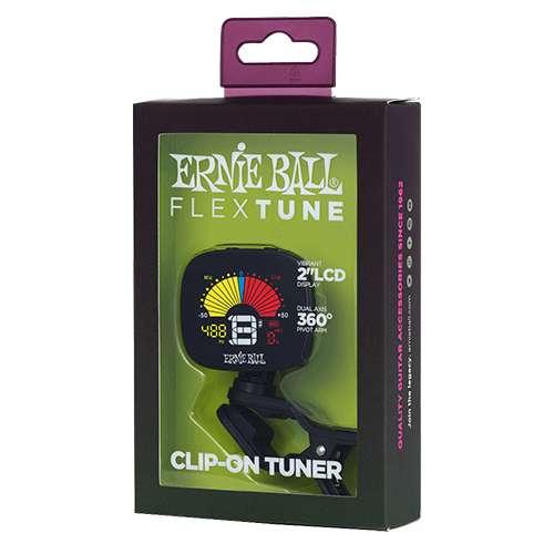 Ernie Ball - Afinador Cromatico de Clip, Color: Negro Mod.4112
