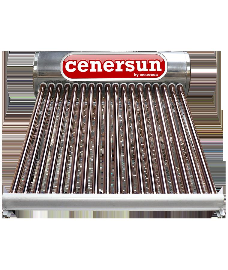 Calentador Solar Cenercon 220L 6 Personas P/Tinaco 18 Tubos