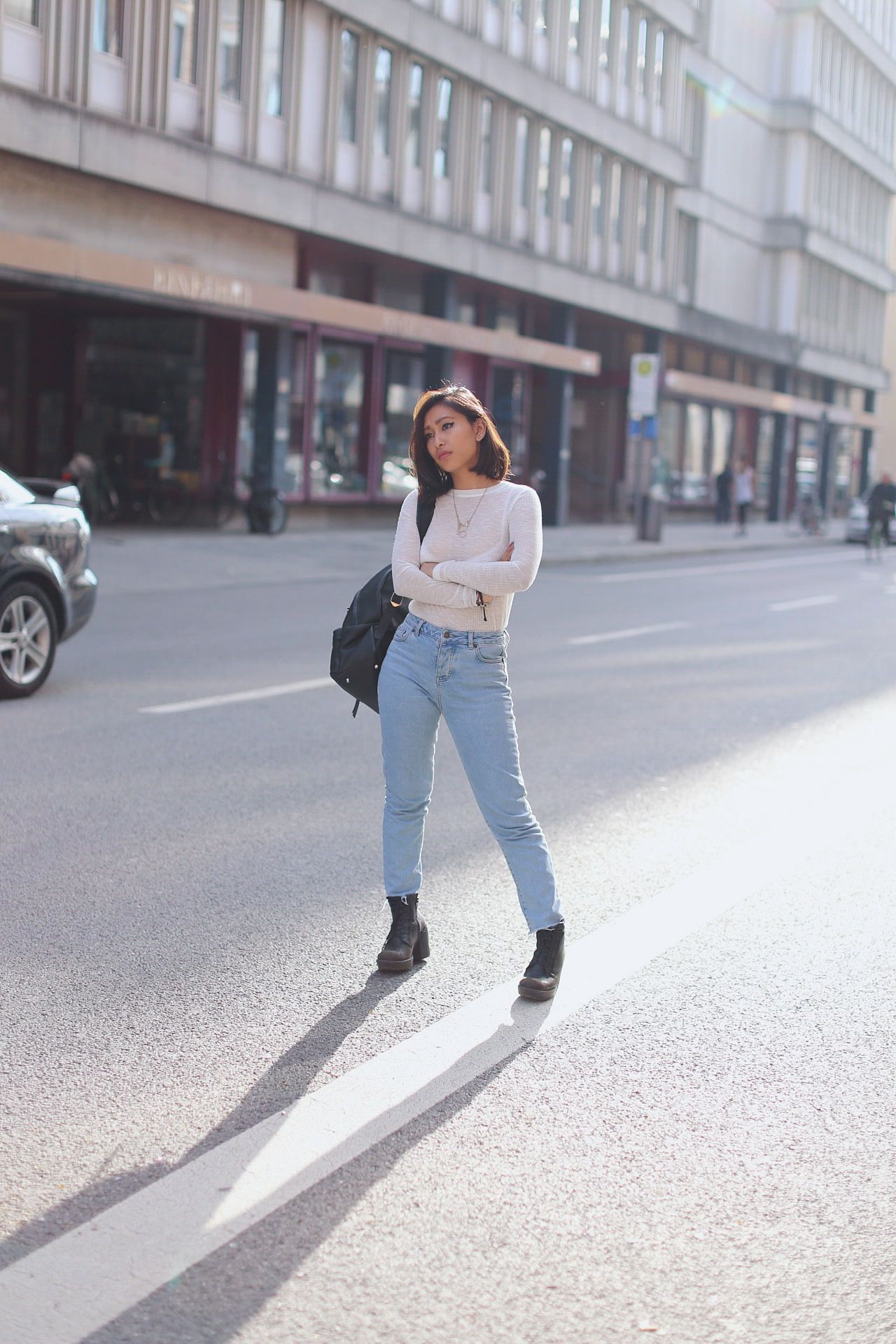 jeans taille haute blog mode
