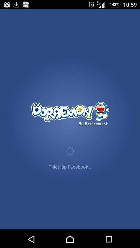 Mod giao diện facebook doraemon cực đẹp cho điện thoại