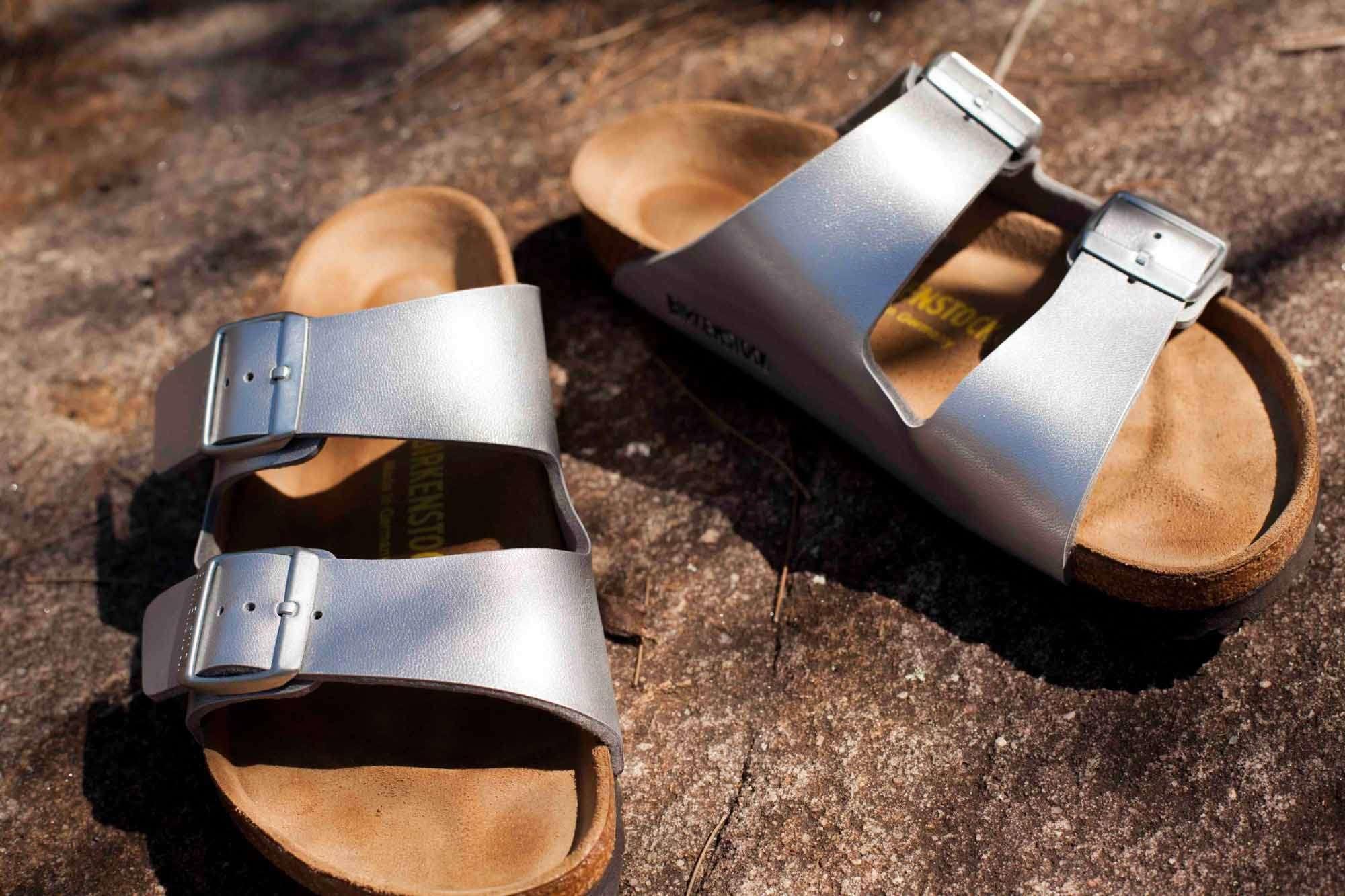 Silver Birkenstocks