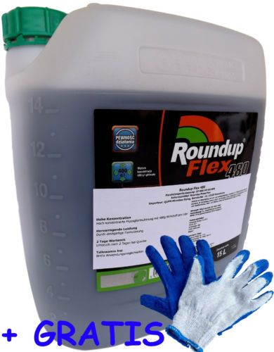 roundup flex 480 power flex platinum oder roundup gel unkrautvernichter ebay. Black Bedroom Furniture Sets. Home Design Ideas