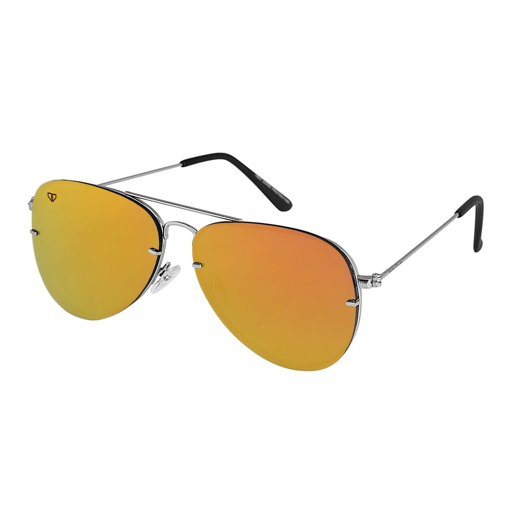Walrus Noah Golden Mirror Color Unisex Aviator Sunglass - WS-NOAH-230707