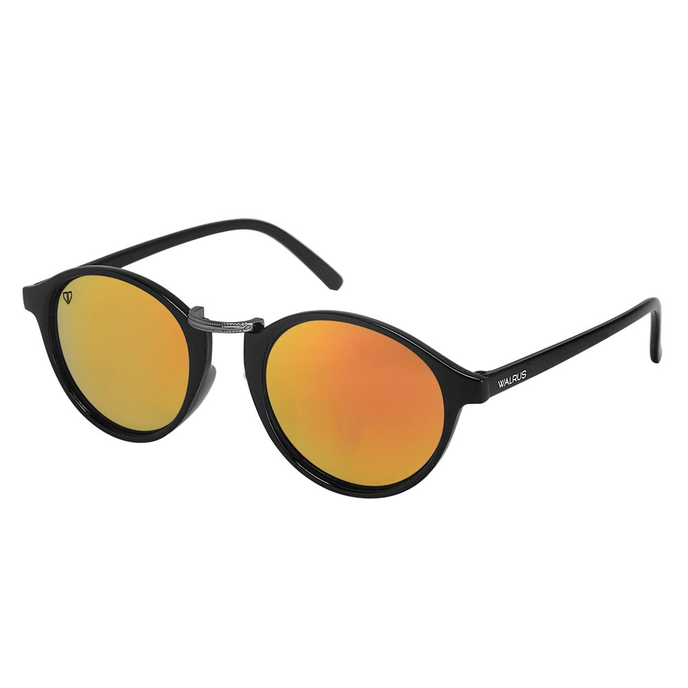 Walrus James Golden Mirror Color Unisex Oval Sunglass - WS-JAMES-230218