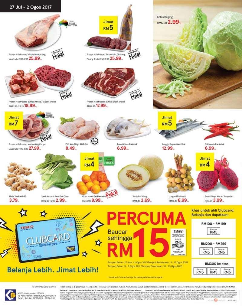 Tesco Malaysia Weekly Catalogue (27 July 2017 - 2 Aug 2017)