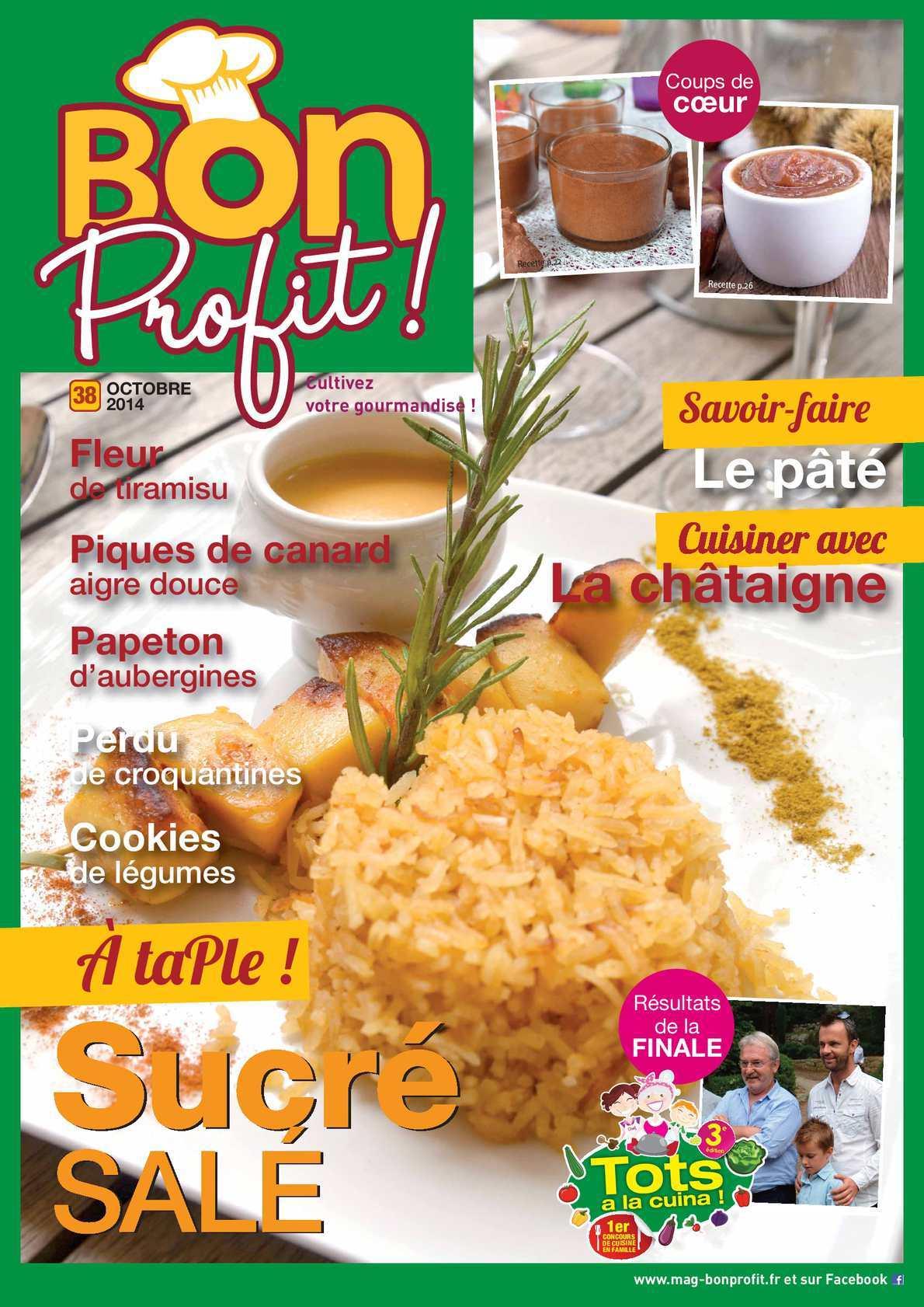 Bon Profit ! 39 - Cuisiner Avec La Châtaigne