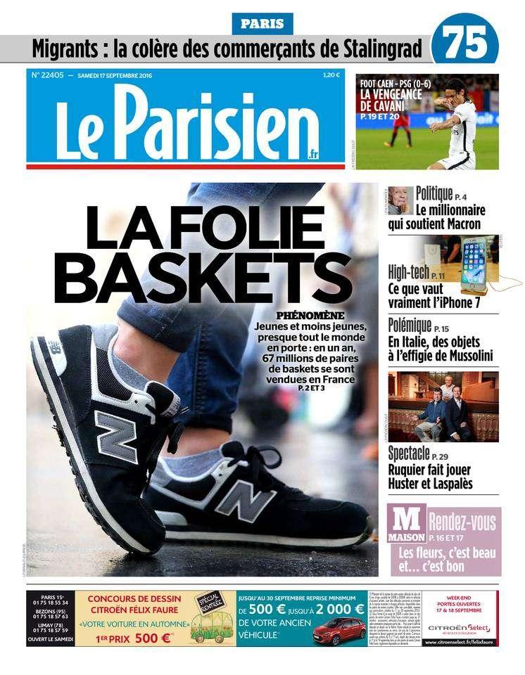 Le Parisien et Journal de Paris du Samedi 17 Septembre 2016
