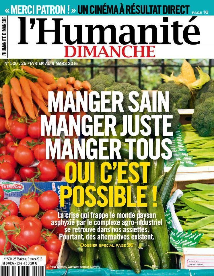 L'Humanité Dimanche - 25 Février au 9 Mars 2016