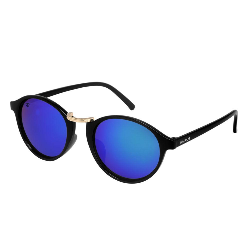 Walrus James Multicolor Mirror Color Unisex Oval Sunglass - WS-JAMES-210206
