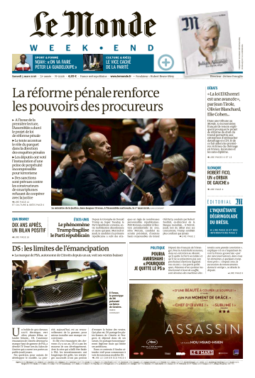 Le Monde week-end du Samedi 5 Mars 2016