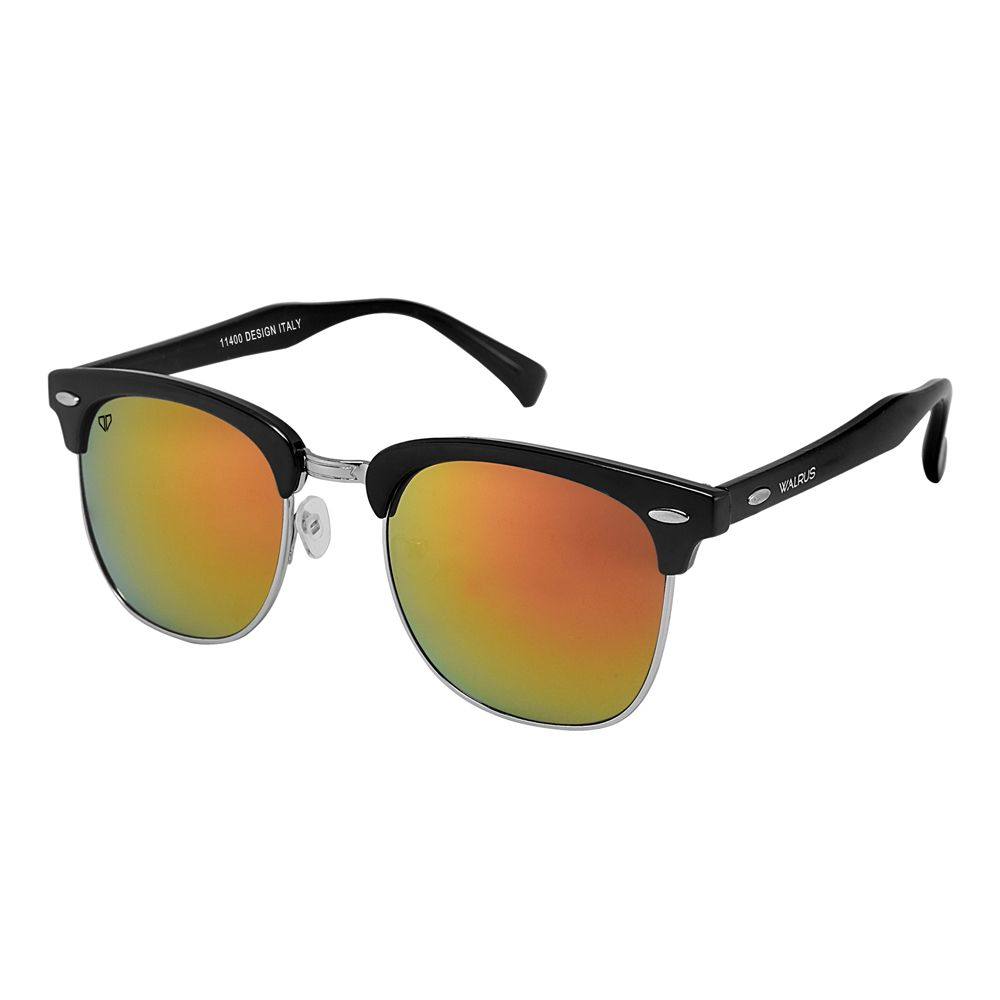Walrus Michel Golden Mirror Color Unisex Wayfarer Sunglass - WS-MCHL-230207