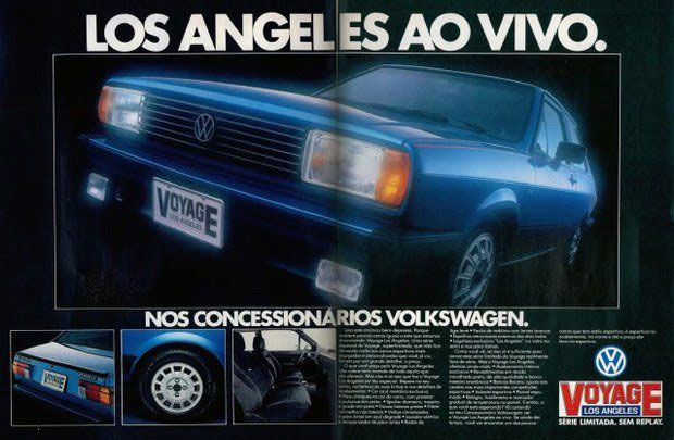 Volkswagen Voyage Los Angeles. Série limitada. Ao vivo. Sem replay.